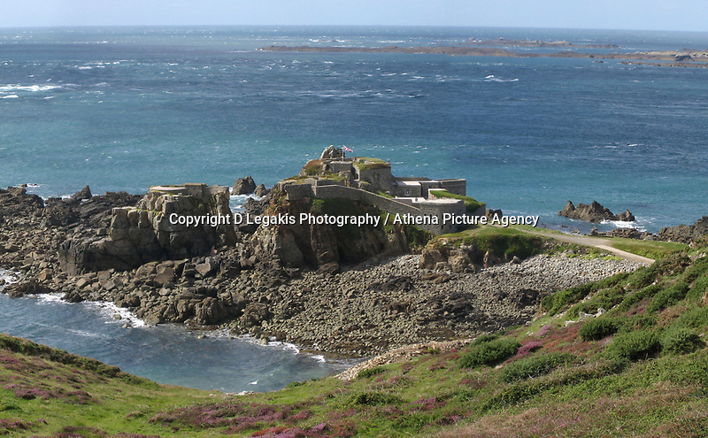 Pictured: General view of Fort Clonque, Alderney<br />Re: It is believed that Premier League footballer Emiliano Sala was on a flight which disappeared between France and Cardiff.<br />The Argentine striker was one of two people on board the Piper Malibu, which disappeared off Alderney on Monday night.<br />Cardiff City FC, signed the 28-year-old from French club Nantes.<br />A search is under way.<br />A Cardiff Airport spokeswoman confirmed the aircraft was due to arrive from Nantes but said there were no further details.<br />HM Coastguard has sent two helicopters to help.