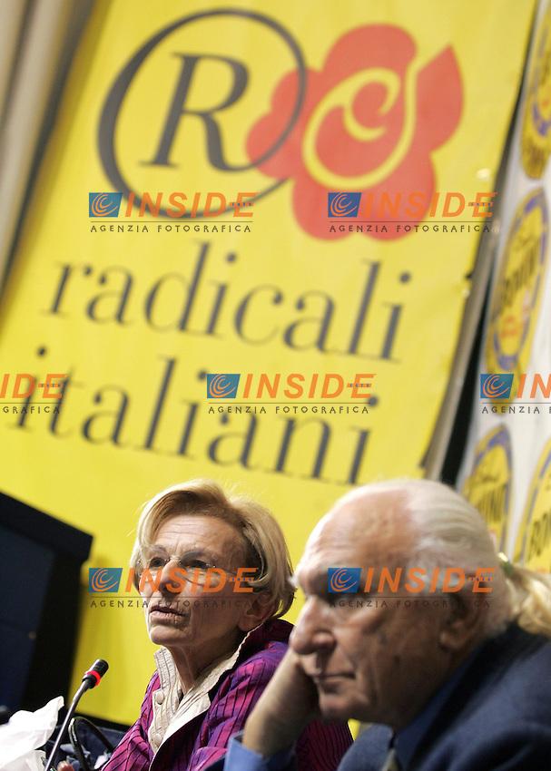 Emma Bonino e Marco Pannella.Conferenza stampa dei Radicali sui risultati delle Elezioni Regionali..Roma, 31 Marzo 2010..Photo Serena Cremaschi Insidefoto