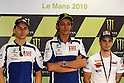 May 23, 2010 - (L-R) Jorge Lorenzo, Valentino Rossi and Dany Pedrosa are pictured prior the French Grand Prix on May 22, 2010. (photo Andrew Northcott/Nippon News)