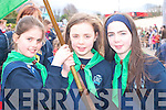 Killarney Girl Guides Laura Casey, Sarah Kenny and Katie Groves who marched at the Killarney St Patricks Day parade on Monday   Copyright Kerry's Eye 2008