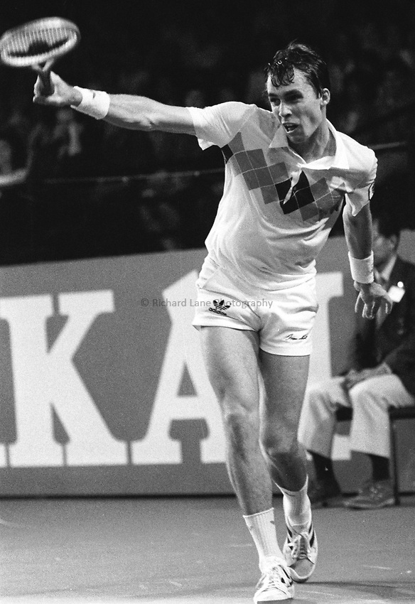 Photo. Steve Holland.1982..Ivan Lendl