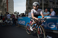 Fabio Sylvestre (POR/Trek Factory Racing) at the start<br /> <br /> 2015 Giro<br /> stage 5: La Spezia - Abetone (152km)