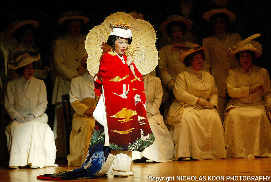 2003 - MADAME BUTTERFLY - Madame Butterfly enters the consulate in Opera Pacific's production of Madame Butterfly.