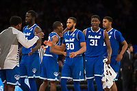 NEW YORK, NY - Thursday March 9, 2017: Seton Hall leads Marquette in the second half as the two schools square off in the Quarterfinals of the Big East Tournament at Madison Square Garden.
