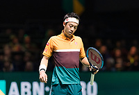Rotterdam, The Netherlands, 16 Februari 2019, ABNAMRO World Tennis Tournament, Ahoy, Semis, Kei Nishikori (JPN),<br /> Photo: www.tennisimages.com/Henk Koster