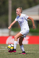Sanford, FL - Saturday Oct. 14, 2017:  A Pride player during a US Soccer Girls' Development Academy match between Orlando Pride and NC Courage at Seminole Soccer Complex. The Courage defeated the Pride 3-1.
