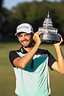 Gainesville, VA - August 2, 2015:     Troy Merritt holds the Quicken Loan National trophy at the Robert Trent Jones Golf Club in Gainesville, VA. August 2, 2015.  (Photo by Elliott Brown/Media Images International)