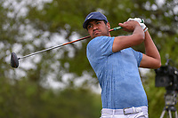 Tony Finau (USA) watches his tee shot on 2 during day 2 of the Valero Texas Open, at the TPC San Antonio Oaks Course, San Antonio, Texas, USA. 4/5/2019.<br /> Picture: Golffile | Ken Murray<br /> <br /> <br /> All photo usage must carry mandatory copyright credit (&copy; Golffile | Ken Murray)