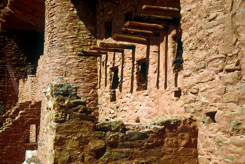 Manitou Cliff Dwellings of the Anasazi (native American Indians) tribe. These dwellings were carved out of the soft red sandstone cliffs that offered protection from hostile intruders.