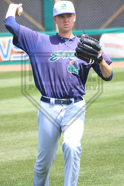 APPLETON - MAY 2010: Michael Tonkin of the Beloit Snappers, Class-A affiliate of the Minnesota Twins, during a game on May 16, 2010 at Fox Cities Stadium in Appleton, Wisconsin. (Photo by Brad Krause)