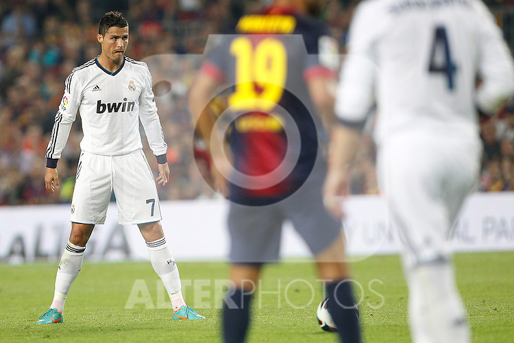 Real Madrid's Cristiano Ronaldo during la Liga match on october 7th 2012. ..Photo: Cesar Cebola  / ALFAQUI