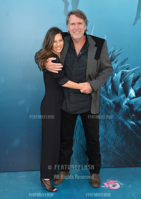 "LOS ANGELES, CA - August 06, 2018: Robert Taylor & Ayisha Davies at the US premiere of ""The Meg"" at the TCL Chinese Theatre"
