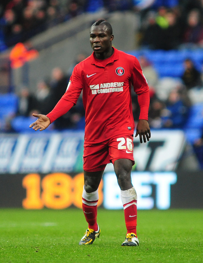 Charlton Athletic's Emmanuel Frimpong ..Football - npower Football League Championship - Bolton Wanderers v Charlton Athletic - Saturday 15th December 2012 = The Reebok Stadium - Bolton..