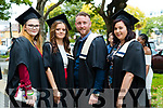 Applied Social Studies Graduates, Alanah Keane, Lixnaw, Clodagh Foley, Tralee, Shane Canty, Tralee and Niamh McNamara, Lixnaw at the Kerry College of Further Education Graduations at the Brandon Hotel on Thursday.