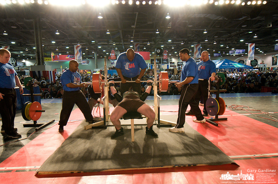 Mens powerlifting at 2008 Arnold sports Festival. Photo Copyright Gary Gardiner.