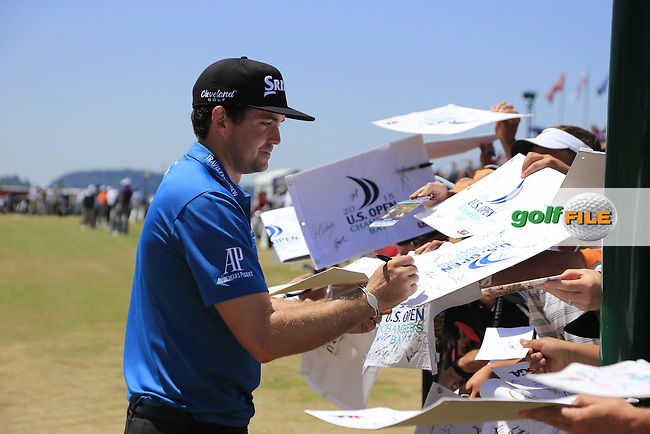 Keegan Bradley (USA) during Wednesday's Practice Day of the 2015 U.S. Open 115th National Championship held at Chambers Bay, Seattle, Washington, USA. 6/17/2015.<br /> Picture &copy; Golffile/Eoin Clarke