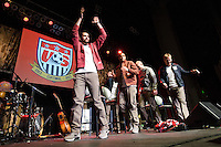 DENVER, CO - MARCH, 21, 2013 - USMNT Pep rally at the Paramount Theater in Denver, CO.