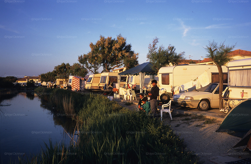 gypsies fish in the river near the camping nigel dickinson. Black Bedroom Furniture Sets. Home Design Ideas