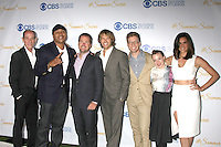 LOS ANGELES - MAY 18:  Miguel Ferrer, LL Cool J, Chris O'Donnell, Eric Christian Olsen, Barrett Foa, Renee Felice Smith, Daniela Ruah at the CBS Summer Soiree 2015 at the London Hotel on May 18, 2015 in West Hollywood, CA