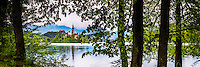 Lake Bled Island, Slovenia. St Mary Church on Lake Bled Island, Gorenjska, Slovenia, Europe