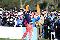 Smylie Kaufman (USA) tees off the 6th tee at Pebble Beach Golf Links during Saturday's Round 3 of the 2017 AT&amp;T Pebble Beach Pro-Am held over 3 courses, Pebble Beach, Spyglass Hill and Monterey Penninsula Country Club, Monterey, California, USA. 11th February 2017.<br /> Picture: Eoin Clarke | Golffile<br /> <br /> <br /> All photos usage must carry mandatory copyright credit (&copy; Golffile | Eoin Clarke)