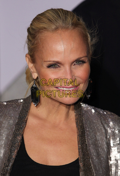 "KRISTIN CHENOWETH .""When In Rome"" Los Angeles Premiere - Arrivals held at The El Capitan Theater, Hollywood, CA, USA, .27th January 2010..portrait headshot hair up silver sequined sequin earrings dangly  smiling tanned sun tan black .CAP/ADM/CH.©Charles Harris/AdMedia/Capital Pictures"