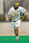 10 April 2007: University of Vermont Catamounts' Pete Hein, a Senior from Greenwood Village, CO, in action against the Holy Cross Crusaders at Moulton Winder Field, in Burlington, Vermont. The Crusaders rallied to defeat the Catamounts 5-4...Mandatory Photo Credit: Ed Wolfstein Photo