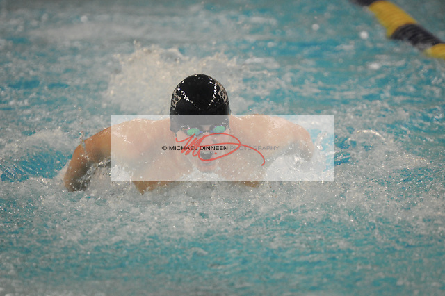Eagle River's Brady McGee in the 200 IM at Bartlett High Saturday, Oct. 29, 2016.  Photo for the Star by Michael DInneen