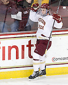 Pat Mullane (BC - 11) - The Boston College Eagles defeated the University of Massachusetts-Amherst Minutemen 3-2 to take their Hockey East Quarterfinal matchup in two games on Saturday, March 10, 2012, at Kelley Rink in Conte Forum in Chestnut Hill, Massachusetts.