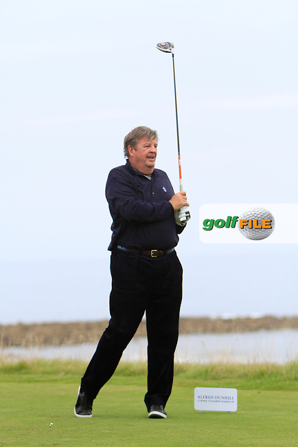 Johann Rupert during Round 2 of the Alfred Dunhill Links Championship at Kingsbarns Golf Club on Friday 27th September 2013.<br /> Picture:  Thos Caffrey / www.golffile.ie