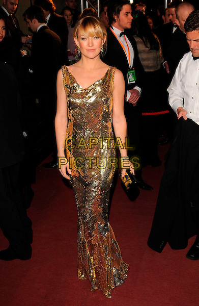 KATE HUDSON.The Orange British Academy Film Awards 2008, aftershow party, Grosvenor House Hotel, London, England. .February 10th, 2008 .BAFTA Arts  full length gold dress sequins sequined.CAP/CAN.©Can Nguyen/Capital Pictures