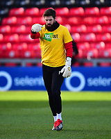 Lincoln City's Josh Vickers during the pre-match warm-up<br /> <br /> Photographer Andrew Vaughan/CameraSport<br /> <br /> The EFL Sky Bet League Two - Lincoln City v Northampton Town - Saturday 9th February 2019 - Sincil Bank - Lincoln<br /> <br /> World Copyright &copy; 2019 CameraSport. All rights reserved. 43 Linden Ave. Countesthorpe. Leicester. England. LE8 5PG - Tel: +44 (0) 116 277 4147 - admin@camerasport.com - www.camerasport.com