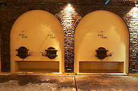 concrete fermentation tanks with vaulted design Bodega Castillo Viejo Winery, Las Piedras, Canelones, Uruguay, South America