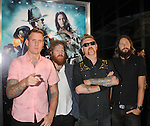 "LOS ANGELES, CA. - June 17: Musicians Brann Dailor, Brent Hinds, Bill Kelliher and Troy Sanders of Mastodon arrive at the ""Jonah Hex"" Los Angeles Premiere at ArcLight Cinemas Cinerama Dome on June 17, 2010 in Hollywood, California."