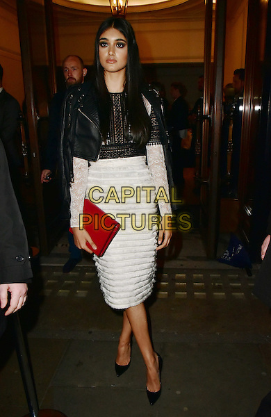 Neelam Johal arrives for the premiere of the Burberry festive film at Burberry on November 3, 2015 in London, England.<br /> CAP/JOR<br /> &copy;JOR/Capital Pictures