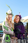 Annmarie O'Leary and Aisling Healy from Tralee at the Hennessy Gold Cup Ladies Day at Leopardstown Racecourse, Dublin on Saturday.
