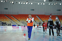 SPEEDSKATING: SOCHI: Adler Arena, 19-03-2013, Training, Jan van Veen (trainer/coach Team Van Veen), © Martin de Jong