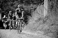 Kristian House (GBR)<br /> <br /> training over belgian cobbles with Team RaphaCondorJLT
