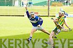 St Brendan's Kevin Skinner and Kilmoyley's Daniel Collins.
