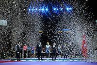 Serena Williams (USA)<br /> Na Li (CHN)<br /> Ekaterina Makarova (RUS)<br /> Elena Vesnina (RUS)<br /> Su-Wei Hsieh (TPE)<br /> Shuai Peng (CHN)<br /> Stacey Allaster  <br /> Istanbul 26/10/2013 <br /> Tennis Wta Masters <br /> Foto Virginie Bouyer / Panoramic / Insidefoto