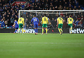 1st December 2017, Cardiff City Stadium, Cardiff, Wales; EFL Championship Football, Cardiff City versus Norwich City; Joe Ralls of Cardiff City strikes the penalty, scoring the equalizer in the 2nd half for 1-1