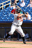 June 11th 2008:  Catcher Wally Crancer of the Delmarva Shorebirds, Class-A affiliate of the Baltimore Orioles, during a game at Classic Park in Eastlake, OH.  Photo by:  Mike Janes/Four Seam Images