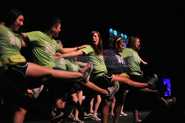 The University of Kentucky dance instructors for Dance Blue, gave quite an opening act to the students who came out to support the fund raiser.