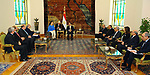 Egyptian President Abdel Fattah al-Sisi meets with Argentine Vice President Gabriela Michetti, in Cairo, Egypt on July 16, 2017. Photo by Egyptian President Office