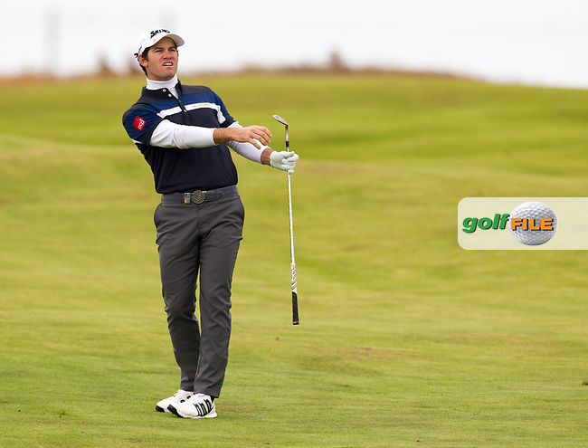 Ricardo Gouveia (POR) on the 18th during round 2 of the Aberdeen Asset Management Scottish Open 2017, Dundonald Links, Troon, Ayrshire, Scotland. 14/07/2017.<br /> Picture Fran Caffrey / Golffile.ie<br /> <br /> All photo usage must carry mandatory copyright credit (&copy; Golffile   Fran Caffrey)