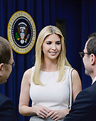 Ivanka Trump attends a CEO town hall on the American business climate in the South Court Auditorium of the White House in Washington, DC, April 4, 2017.<br /> Credit: Olivier Douliery / Pool via CNP