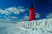 South Haven Pier Lighthouse, Lake Michigan, South Haven, Michigan.