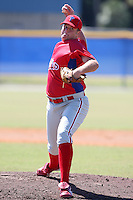 Philadelphia Phillies minor league pitcher Tyler Knigge (48) vs. the Toronto Blue Jays in an Instructional League game at Englebert Minor League Complex in Dunedin, Florida;  October 7, 2010.  Photo By Mike Janes/Four Seam Images