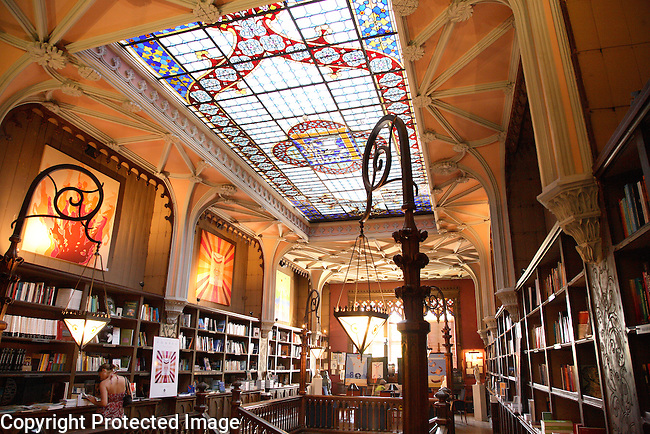 Lello Bookshop, Rua de Carmelitas Street, Porto - Oporto, Douro Litoral, Portugal
