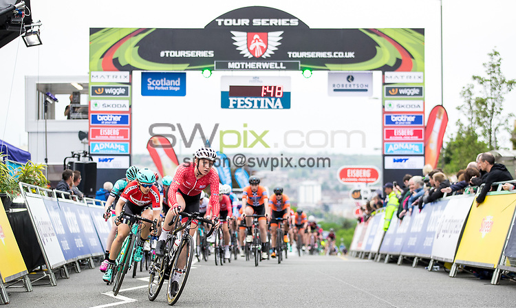 Picture by Alex Whitehead/SWpix.com - 23/05/2017 - Cycling - Tour Series Round 7, Motherwell - Matrix Fitness Grand Prix - Team Breeze's Melissa Lowther.